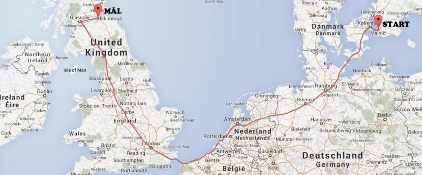 Om fyra veckor cyklar vi tillSkottland!